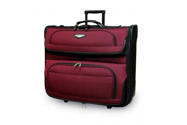Rolling Garment Bag Red