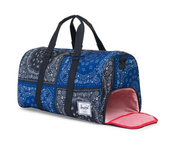 2800fcd26f22 Herschel Supply Novel Duffle Navy and Black Bandana
