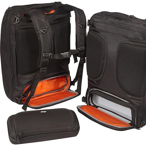 Ebags Slim Laptop Backpack Black Crush Pocket