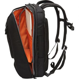 eBags Slim Laptop Backpack Black Open