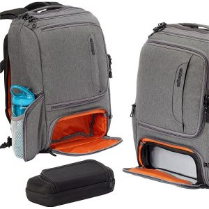 eBags Slim Laptop Backpack Grey Crush Pocket